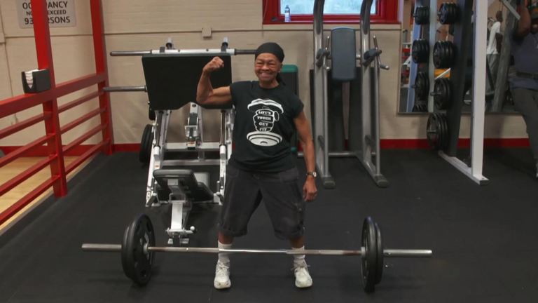Ms Murphy claims she can dead-lift more than 100kg. Pic: NBC Today Show