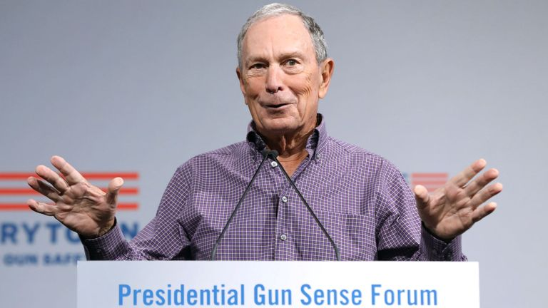 Mr Bloomberg has been an advocate of gun control