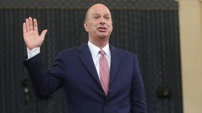 U.S. Ambassador to the European Union Gordon Sondland is sworn in