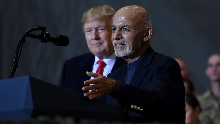 President Donald Trump and President Ashraf Ghani