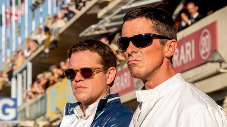 Matt Damon and Christian Bale in Le Mann 66