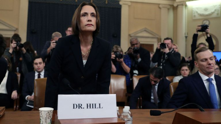 Fiona Hill, former senior director for Europe and Russia on the National Security Council