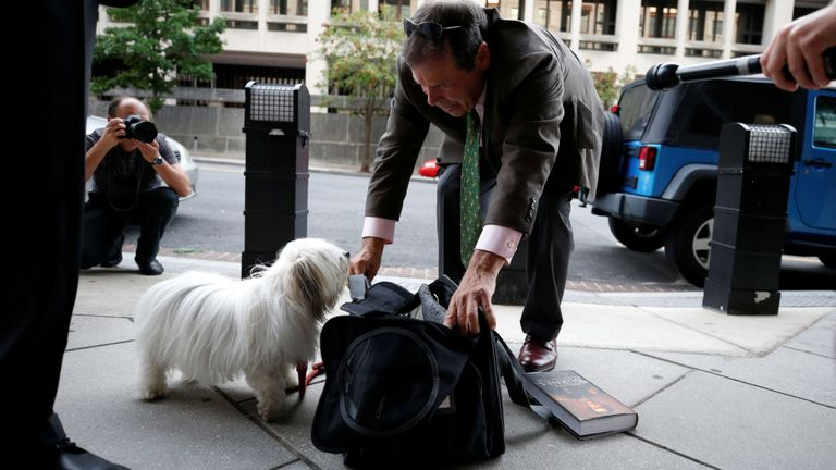 Randy Credico said Roger Stone threatened his therapy dog, Bianca