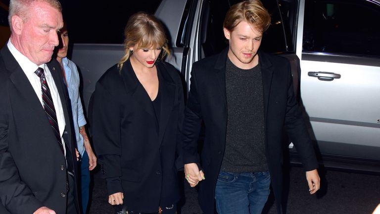 Taylor Swift and boyfriend Joe Alwyn in New York on Saturday