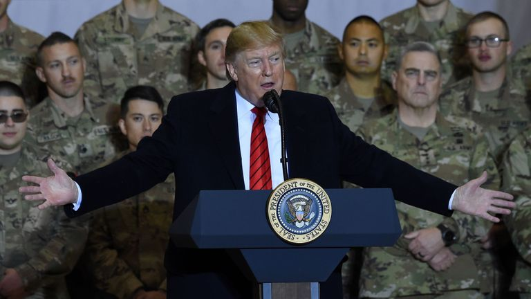 Donald Trump at Bagram airbase