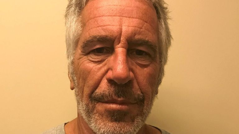 Jeffrey Epstein appears in a photograph taken for the New York State Division of Criminal Justice Services' sex offender registry