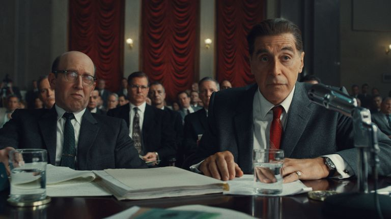 Al Pacino plays union leader Jimmy Hoffa, who's murder has never been officially solved. Pic: Netflix
