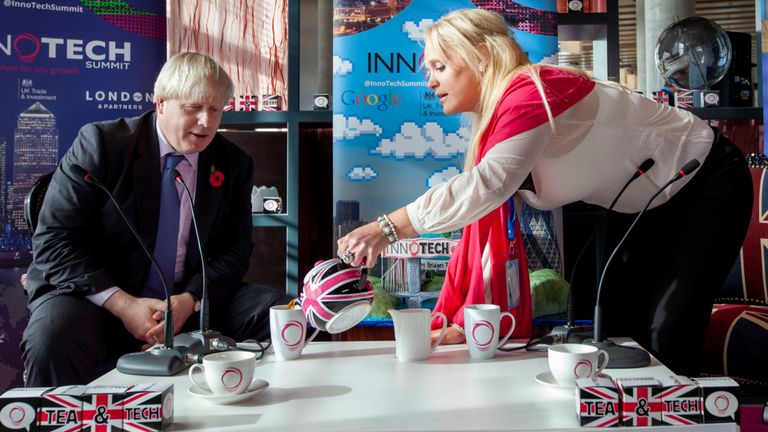 Jennifer Arcuri and Boris Johnson pictured together in 2013