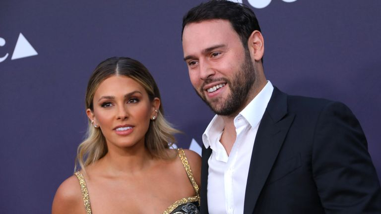 Yael Cohen and Scooter Braun attend the MOCA Benefit 2019 at The Geffen Contemporary at MOCA on May 18, 2019 in Los Angeles, California. (Photo by JC Olivera/Getty Images)