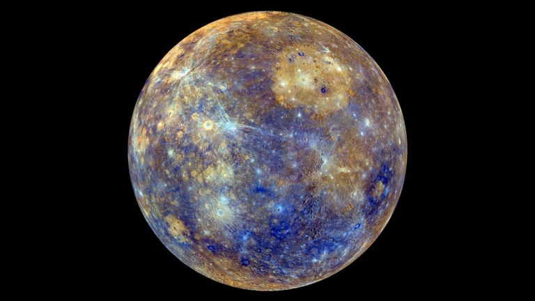 An image of Mercury captured by NASA's Messenger spacecraft