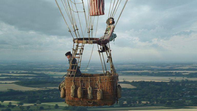 Eddie Redmayne and Felicity Jones in The Aeronauts. Pic: Amazon Studios