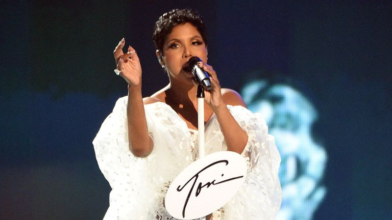 Toni Braxton at the American Music Awards