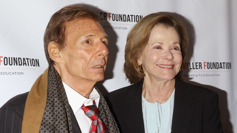 Ron Leibman and Jessica Walter attend the Arthur Miller - One Night 100 Years benefit at Lyceum Theatre on January 25, 2016 in New York City