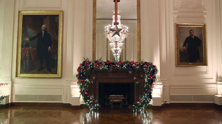 Melania Trump has called the display a 'beautiful exhibit of patriotism'