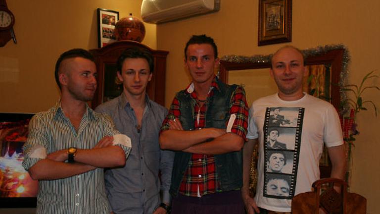 (L-R) Kirill Slobodskoy, Maksim Yakubets, Dimitriy Slobodskoy, Artem Yakubets. Pic: NCA