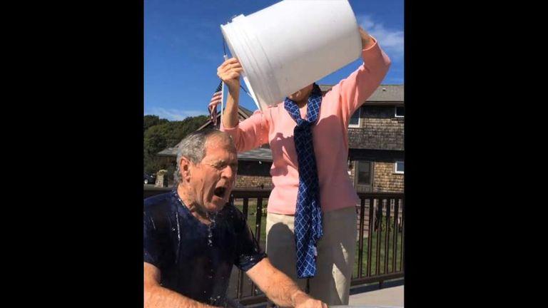 George Bush ice bucket challenge
