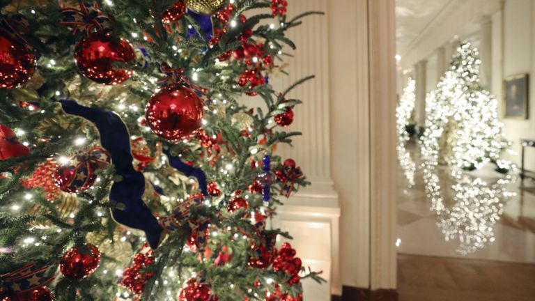 These Christmas decorations feature in the East Room
