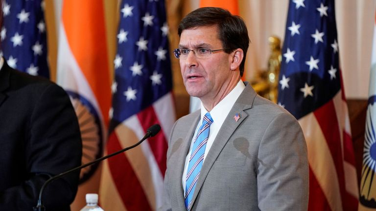 US Defence Secretary Mark Esper