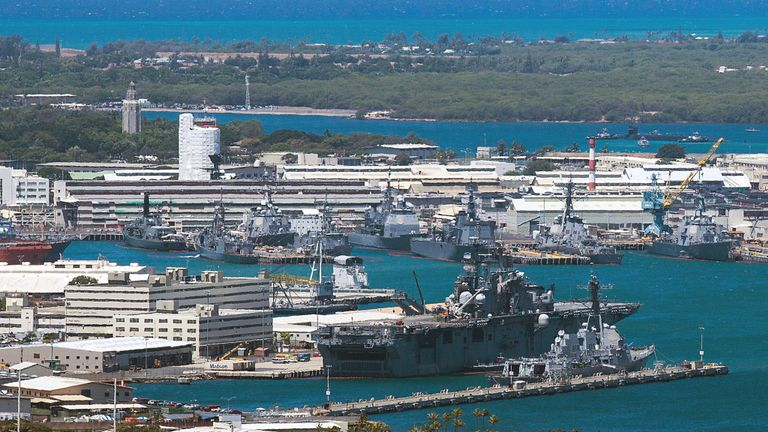 A general view of Joint Base Pearl Harbor-Hickam on Friday, June 29, 2012